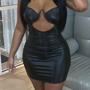 Latex / leather dress